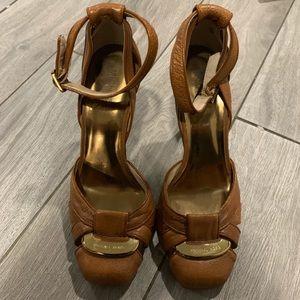 Michael Kors closed toe brown heels